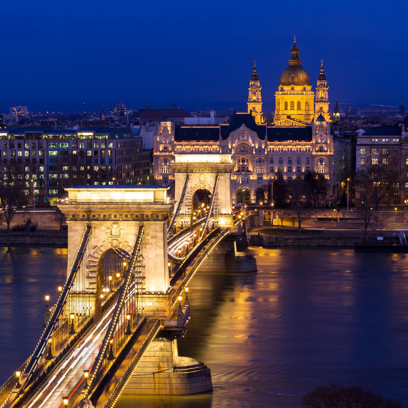 Puente de las Cadenas, Budapest (Hungría)
